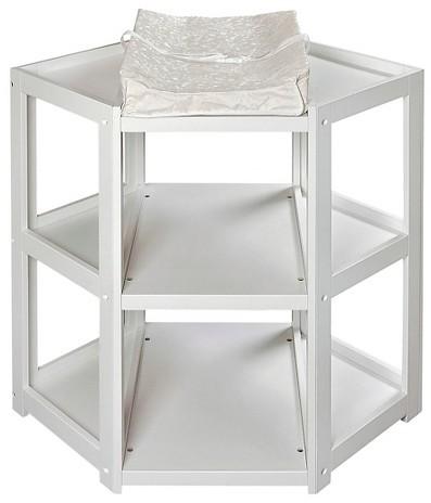 Badger BasketBadger Basket White Corner Baby Changing Table