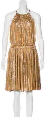 Halston Metallic Midi Dress w/ Tags