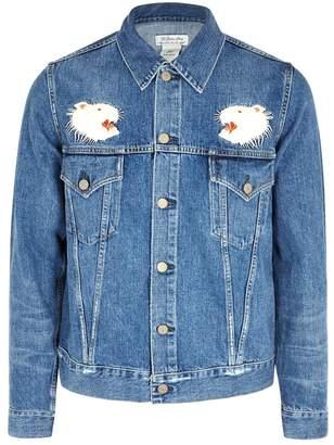 Remi Relief Blue Embroidered Denim Jacket