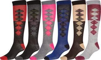 AR+ Sakkas 70801 Poly Blend Knee High Socks 6-Pack