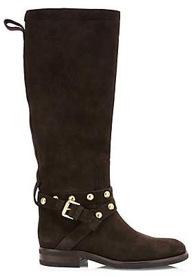 See by Chloe Women's Janis Studded Tall Suede Boots