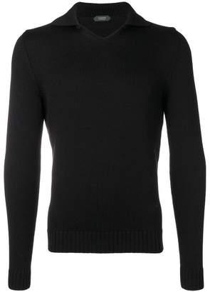 Zanone virgin wool V-neck jumper