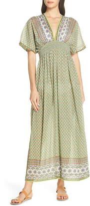 Tory Burch Print Cover-Up Maxi Dress
