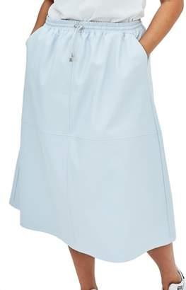 ELVI The Ulla Faux Leather Midi Skirt