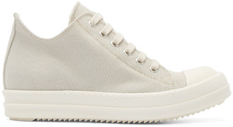 Rick Owens Drkshdw Taupe Canvas Sneakers $680 thestylecure.com