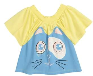 Little Marc Jacobs Funny Cat Top