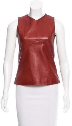 Narciso Rodriguez Sleeveless Leather Top