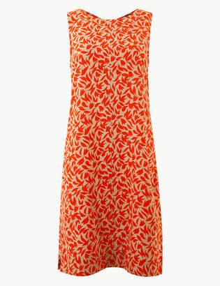 M&S Collection Leaf Print Shift Dress