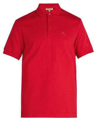 Burberry Oxford Cotton Pique Polo Shirt - Mens - Red