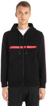 Neil Barrett Hooded Printed Neoprene Sweatshirt