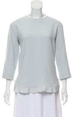 Stella McCartney Long Sleeve Scoop Neck Top