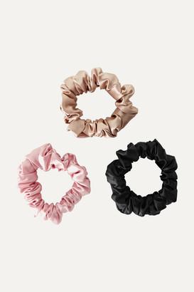 styling/ Slip - Set Of 3 Silk Hair Ties - Pink