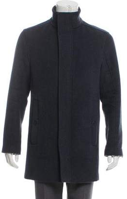 Andrew Marc Wool Knee-Length Casual Jacket