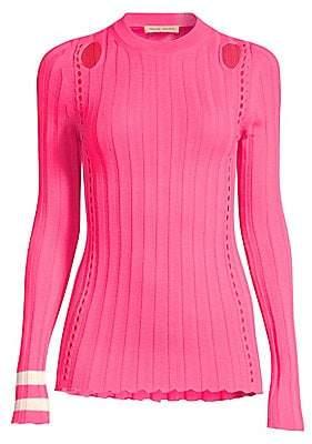 abbf9bbc19f0d2 Maggie Marilyn Women s Hole Lot of Loving Merino Wool Cut-Out Sweater
