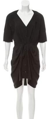 Balenciaga Short Sleeve Knee-Length Dress
