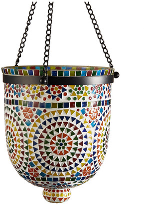 Twos Company Two's Company Multi Color Mosaic Hanging Candle Holder