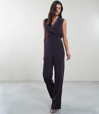 Reiss Dina Tuxedo Front Jumpsuit