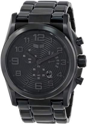 Vestal Men's DEV004 De Novo Matte Black Retrograde Chronograph Watch