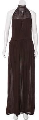 Saint Laurent Chiffon Halter Dress