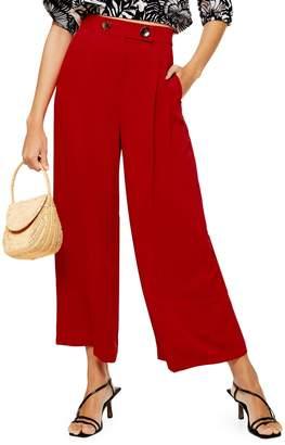 Topshop Rita Cropped Wide-Leg Trousers