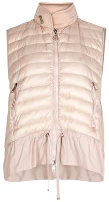 Moncler Blush Quilted Shell And Jersey Gilet