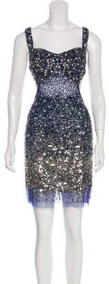 Jovani Embellished Knee-Length Dress