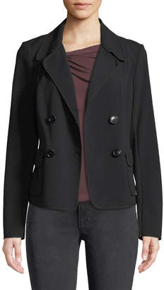 Leon Max Double Breasted Patch-Pocket Blazer Jacket