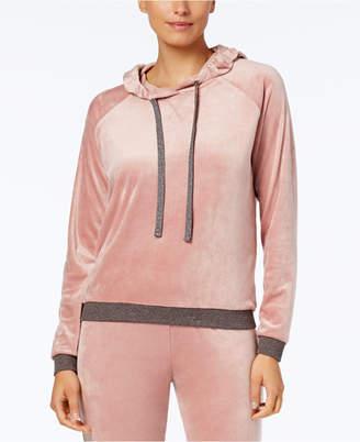Alfani Velvet Hooded Pajama Top