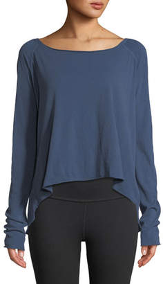 Frank And Eileen Long-Sleeve High-Low Cotton Tee