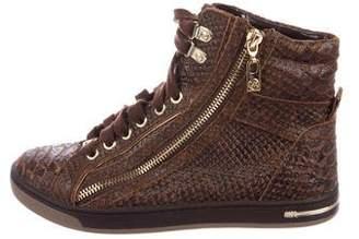 Michael Kors Embossed High-Top Sneakers