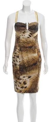 Just Cavalli Mini Halter Sheath Dress