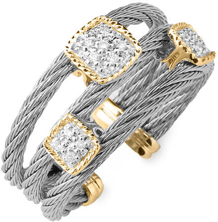 Charriol 'Classique' Open Cable Ring