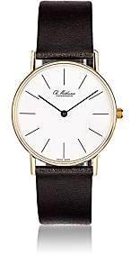 Ole Mathiesen Men's Round-Face Watch-Black