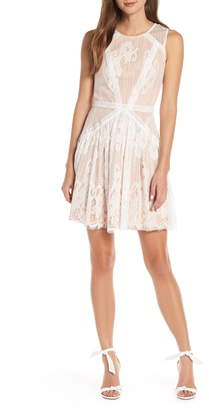 Adelyn Rae Trina Lace Fit & Flare Dress
