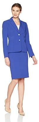 Le Suit Women's Crepe 2 Bttn Notch Lapel Skirt