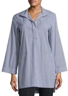 Lafayette 148 New York Desirae Stripe Blouse
