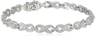 Sterling Created White Sapphire Infinity Bracelet