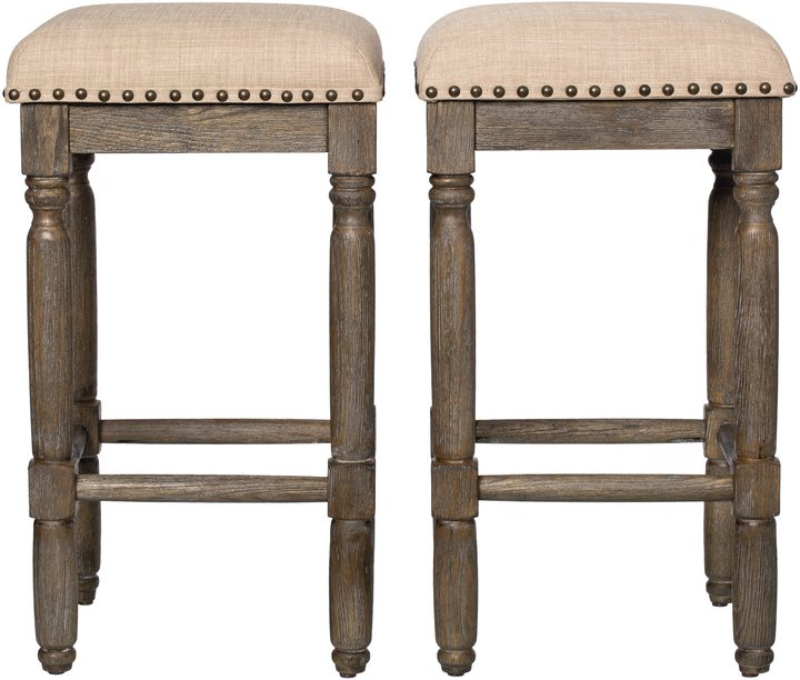 I Love Living Renate Linen Counter Stools Set Of 2 256