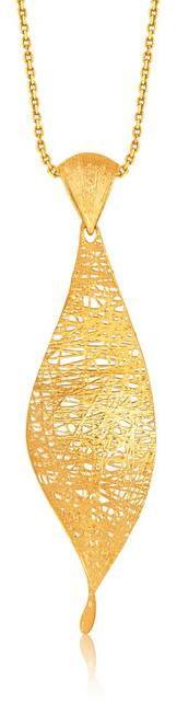Ice Italian Design 14K Yellow Gold Woven Ornamental Twist Pendant