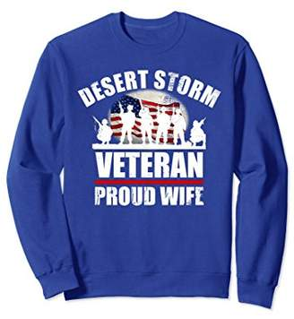 Desert Storm Sweatshirt PROUD WIFE USA Military Family Gift