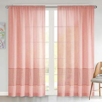 Urban Habitat Rae Dobby Stripe Sheer Window Curtain