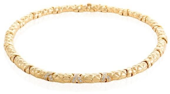 BoucheronBoucheron 18K Yellow Gold Diamond Choker Necklace