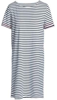Chinti and Parker Striped Cotton-Jersey Mini Dress