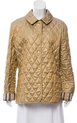 Burberry Metallic Quilted Jacket Metallic Metallic Quilted Jacket