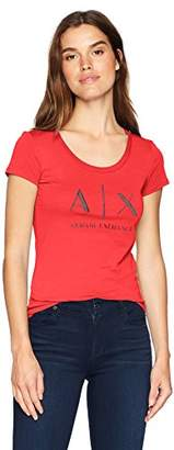 Armani Exchange A|X Women's Scoop Logo Tee