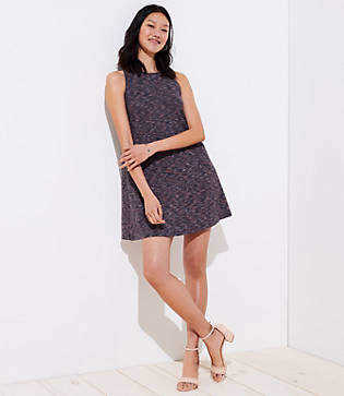 LOFT Spacedye Sleeveless Swing Dress