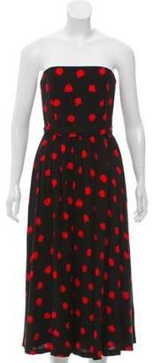 Alice + Olivia Strapless Printed Dress