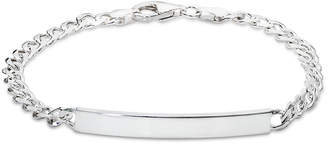 Giani Bernini Id Plate Link Bracelet in Sterling Silver, Created for Macy's