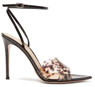 8806d7c7d Gianvito Rossi Leopard Print Strap 105 Patent Leather Sandals - Womens -  Leopard