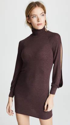 Enza Costa Split Sleeve Funnel Neck Mini Dress